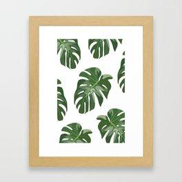 Tropical Leaves Framed Art Print