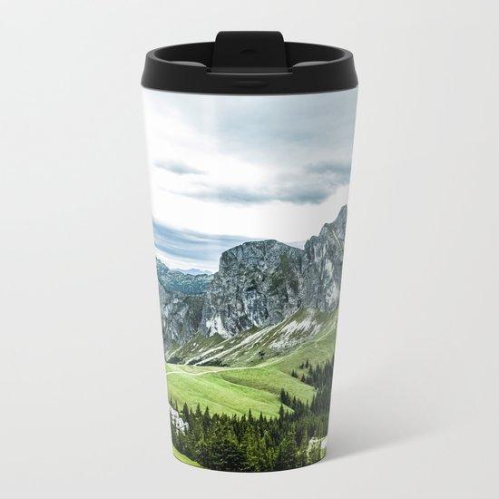 Mountain and Valley  Metal Travel Mug