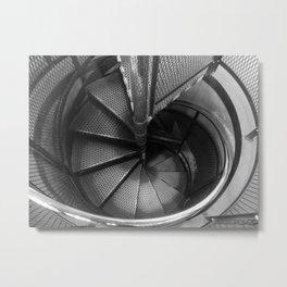 Mechanical Snail Shell Metal Print