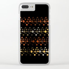 Abstact OrangeYellow Clear iPhone Case