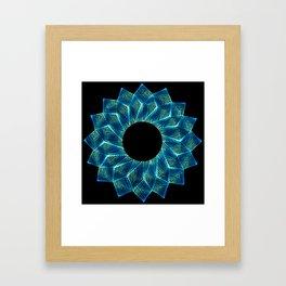 Inverted Threaded Lotus Framed Art Print