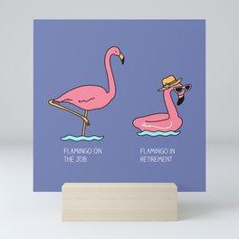 Types of flamingo Mini Art Print