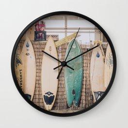 lets surf vii / pensacola beach, florida Wall Clock
