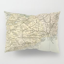 Vintage and Retro Map of Southern Ireland Pillow Sham