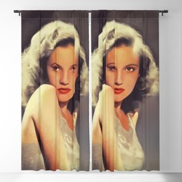 Joan Leslie, Vintage Actress Blackout Curtain