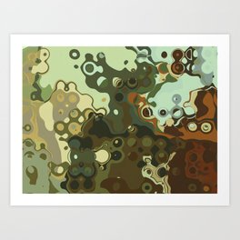 RETRO Mid Century Modern Abstract Pattern Geometric Art by Michel Keck Art Print