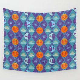 The sun, the moon and the stars Wall Tapestry