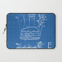 Baseball Glove Patent - Baseball Art - Blueprint Laptop Sleeve