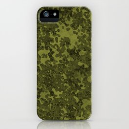 Olive Green Hybrid Camo Pattern iPhone Case