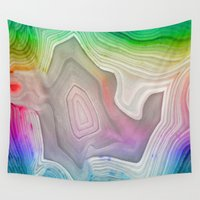 mineral Wall Tapestries featuring MINERAL RAINBOW by Catspaws