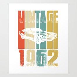 Vintage Retro 1962 T-Shirt Art Print