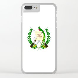 Flag of Guatemala- Guatemalan, Mixco,Villa Nueva,Petapa,tropical,central america,spanish,latine Clear iPhone Case