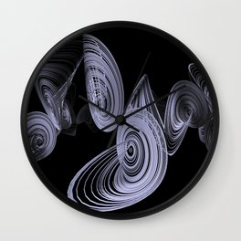 black-and-white - Lorenzattractor -1- Wall Clock