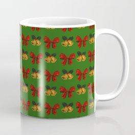 Christmas Vintage Holiday Gold Bells Ribbon Party Coffee Mug