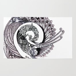 Peacock Spiral Rug