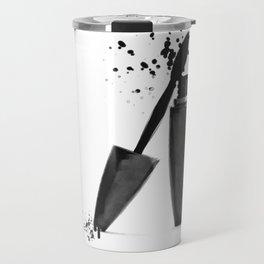 Black mascara fashion illustration Travel Mug