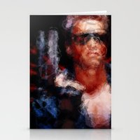 terminator Stationery Cards featuring The Terminator by Alice Z.