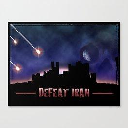 Defeat Iran Canvas Print