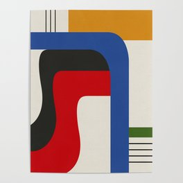 TAKE ME OUT (abstract geometric) Poster