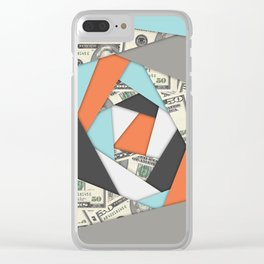 Layered Money Clear iPhone Case