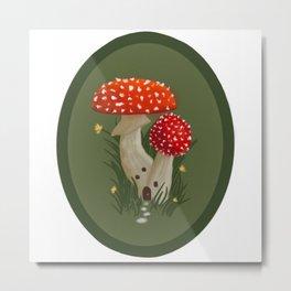 Mushroom Home Metal Print