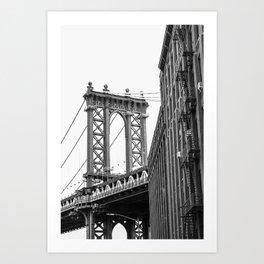 DUMBO Brooklyn Black n White Art Print