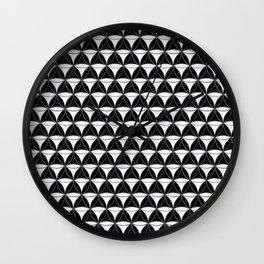 Cone Pattern White Black Wall Clock