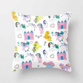 g1 my little pony pattern Throw Pillow