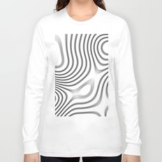 Organic Abstract 01 WHITE Long Sleeve T-shirt