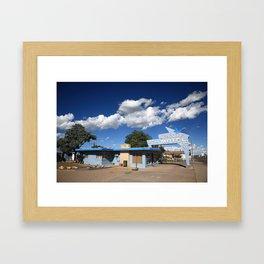 Route 66 - Blue Swallow Motel Framed Art Print