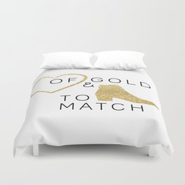 Heart of Gold & Boots to Match Duvet Cover