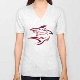 Requin rose logo blanc colors urban fashion culture Jacob's 1968 Paris Unisex V-Neck