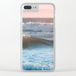 Beach Adventure Summer Waves at Sunset Clear iPhone Case