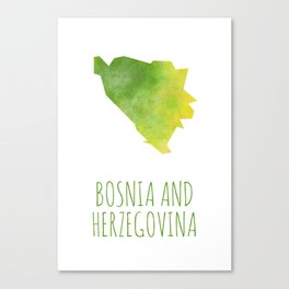 Bosnia and Herzegovina Canvas Print