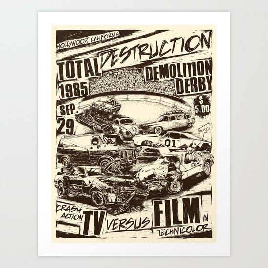 Demolition Derby Art Print