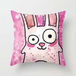 Freezer Bunny Throw Pillow