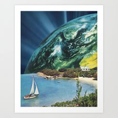 Sailing to Earth Art Print