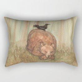 Bear and Crow Rectangular Pillow