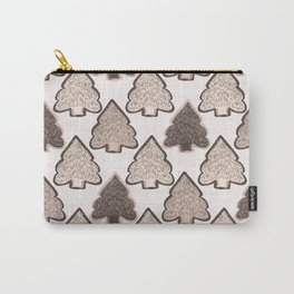 Winter Rustic Fir Tree Lino Cut Texture  Sketchy Carry-All Pouch