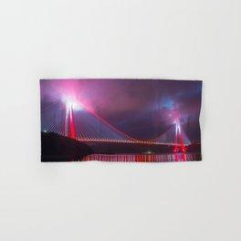 Amazing Yavuz Sultan Selim Bridge Bosphorus Strait  Istanbul Romantic Lighting Ultra HD Hand & Bath Towel