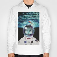pilot Hoodies featuring Miss Space Pilot by SEVENTRAPS