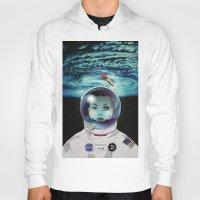 pilot Hoodies featuring Miss Space Pilot by SEVENTRAPS