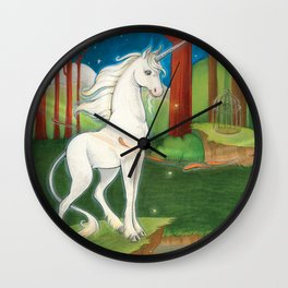 Goodnight Unicorn Elder Wall Clock