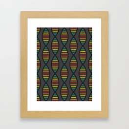 Rainbow DNA Framed Art Print