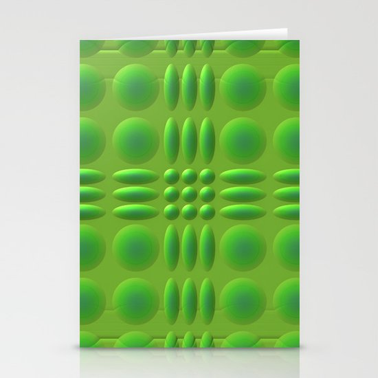 Puffy Green Stationery Cards
