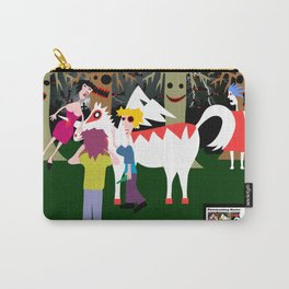 The curious incident of a lady and the unicorn of super white man  Carry-All Pouch