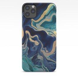 DRAMAQUEEN - GOLD INDIGO MARBLE iPhone Case