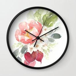 Watercolor Radish Bouquet Wall Clock