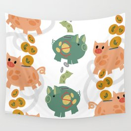 This Little Piggy Making Money Moves Wall Tapestry