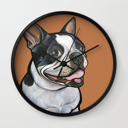 Snoopy the Boston Terrier Wall Clock
